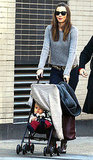 Miranda Kerr with Flynn in NYC.
