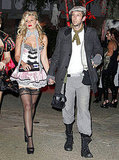 Joel Moore and Aly Michalka at Kate Hudson's Halloween party.