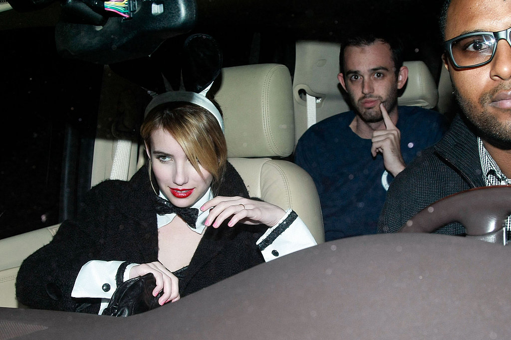 Emma Roberts at Kate Hudson's Halloween party.