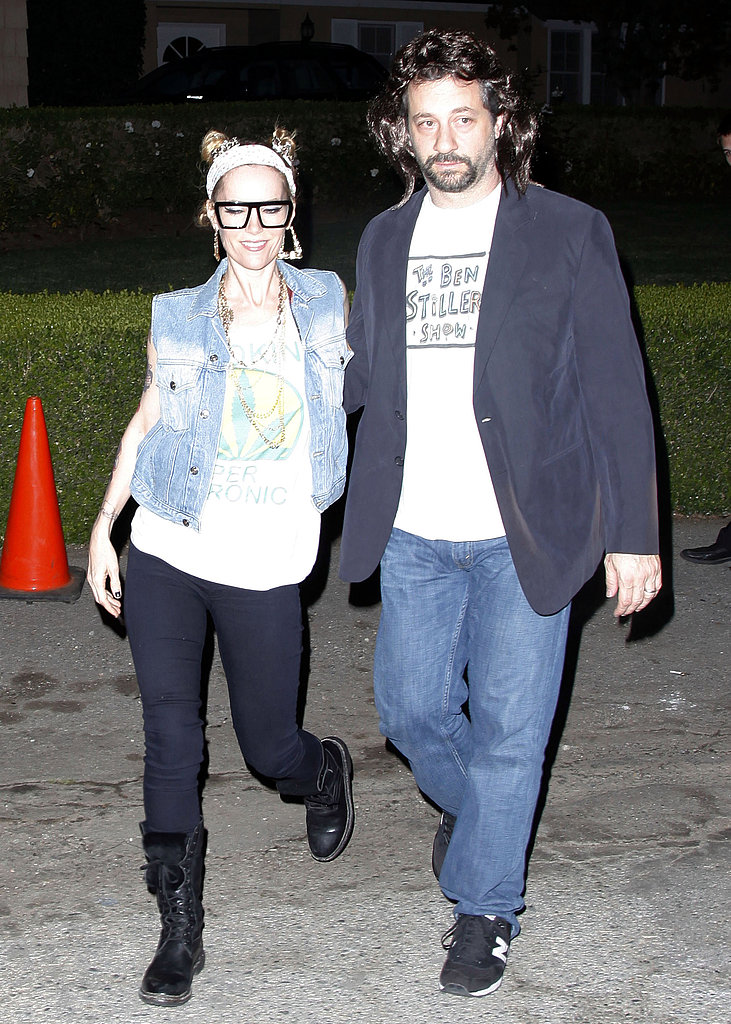 Leslie Mann and Judd Apatow at Kate Hudson's Halloween party.