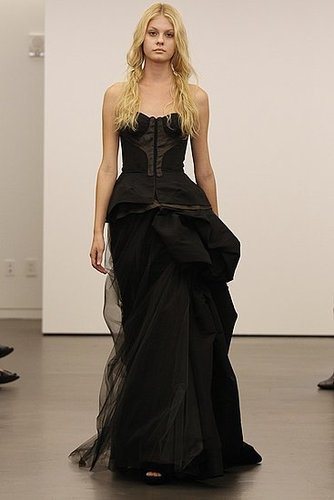 Vera Wang Black Wedding Dresses [Pictures]