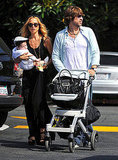 Rachel Zoe and Rodger Berman took baby Skyler for a walk in LA.