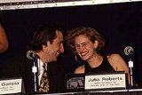 Julia Roberts giggled with Andy Garcia at the Showest Convention in 1991.