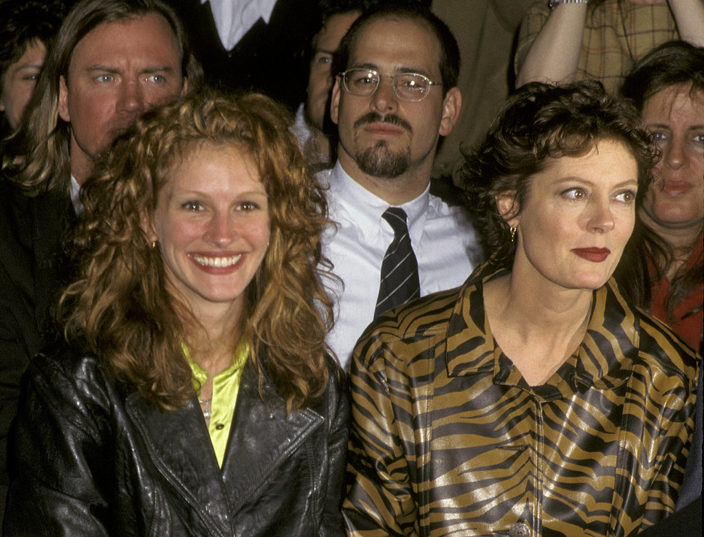 Julia Roberts and her Stepmom costar Susan Sarandon sat side by side at the Todd Oldham Fashion Show in 1995.
