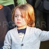 Knox Jolie-Pitt wore a children's cardigan in Budapest.