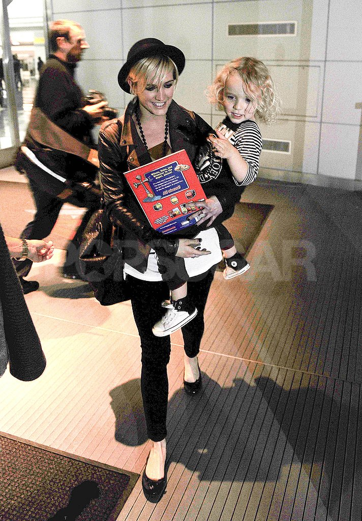 Ashlee Simpson and Bronx Wentz at the airport in NYC.