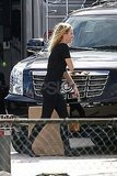 Blake Lively on set in Boston.