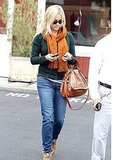 Reese was spotted leaving the Brentwood Country Mart solo.