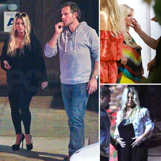 Jessica Simpson Mixes Work and Fun With Eric Johnson in Palm Springs