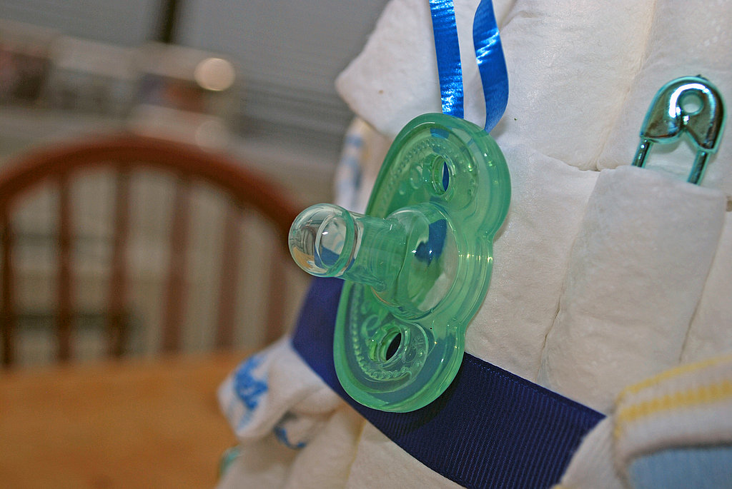A few dangling pacifiers are both practical and fun.