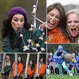 Miss World Contestants Play Dirty at Scottish Highland Games
