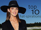 Top Ten Hat and Headwear Inspirations for the Races from Stylish Celebrities: Miranda Kerr, Kate Bosworth, Nicole Richie & more!