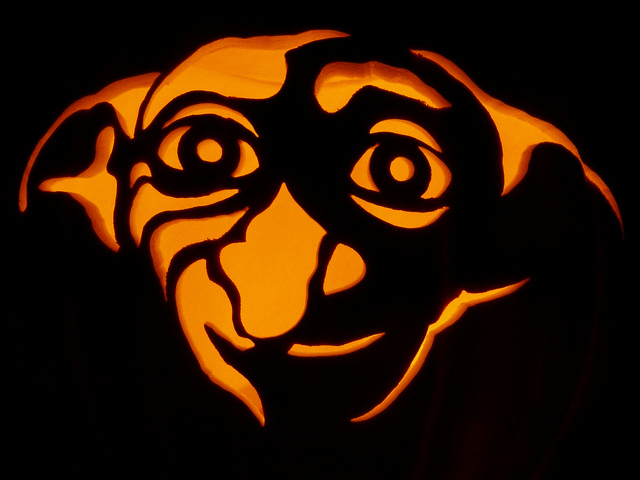 Dobby lives on in pumpkin form.