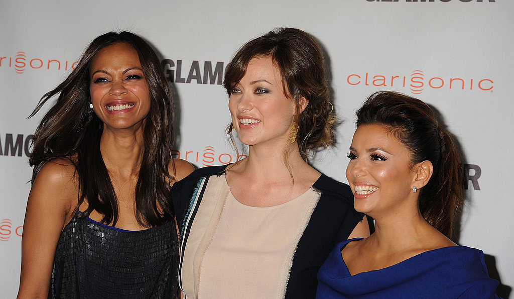 Eva Longoria, Zoe Saldana, and Olivia Wilde attended Glamour's Reel Moments event in LA.