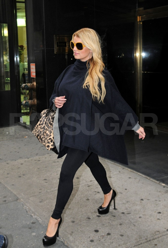 Jessica Simpson was on her way to shop at Bergdorf Goodman.