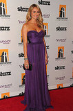 Stacy Keibler wore a purple strapless gown.