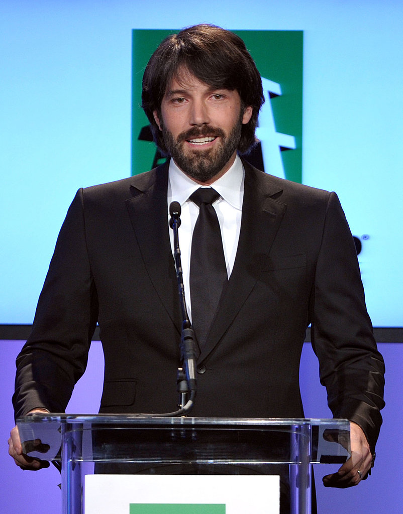 Ben Affleck took the podium at the 2011 Hollywood Film Awards.