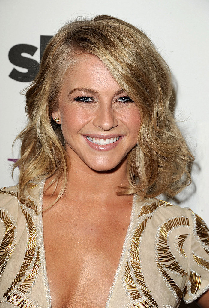 Julianne Hough backstage at the 2011 Hollywood Film Awards.