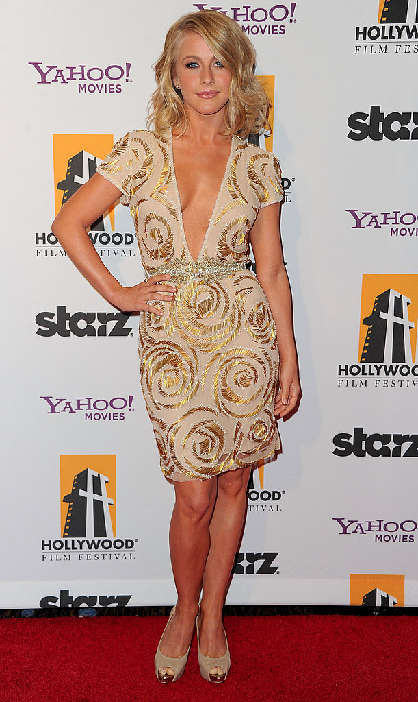 Julianne Hough worked a plunging neckline at the 2011 Hollywood Film Awards.