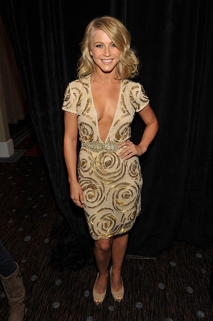 Julianne Hough went for the gold at the Hollywood Film Awards.