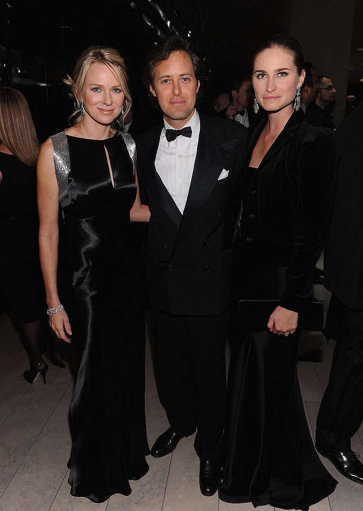 Naomi Watts visited with David Lauren and Lauren Bush.