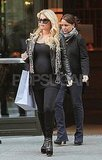 Jessica Simpson carried a shopping bag in NYC.