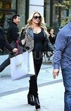 Jessica Simpson wore black sunglasses in NYC.