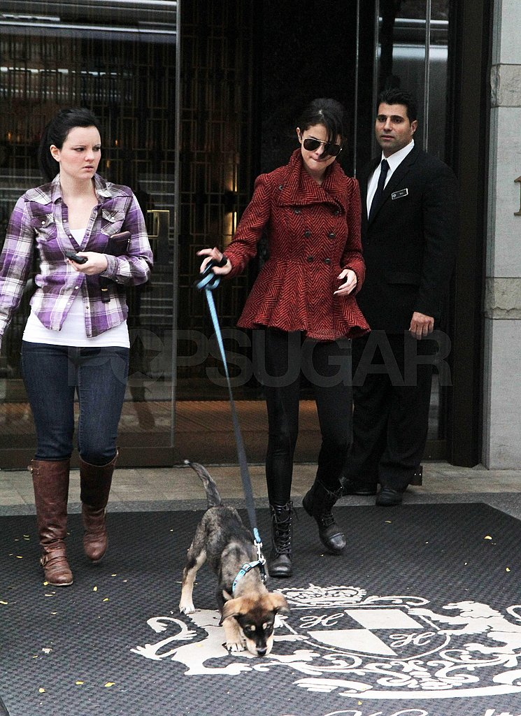 Selena and Baylor ventured out on a walk.