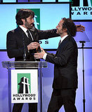 Emmanuel Lubezki and Ben Affleck hugged it out.