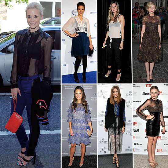 7 Days, 7 Ways: How Celebs Style the Sheer Trend