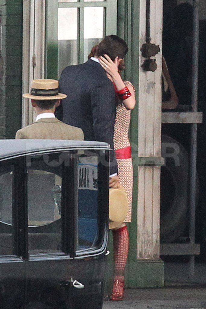 Isla Fisher and Joel Edgerton kissed for a scene in The Great Gatsby.