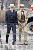 Tobey Maguire and Joel Edgerton walked on the set of The Great Gatsby.