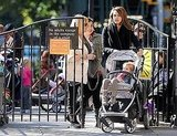 Honor Warren got comfortable in a stroller while mom, Jessica Alba, pushed her in NYC.