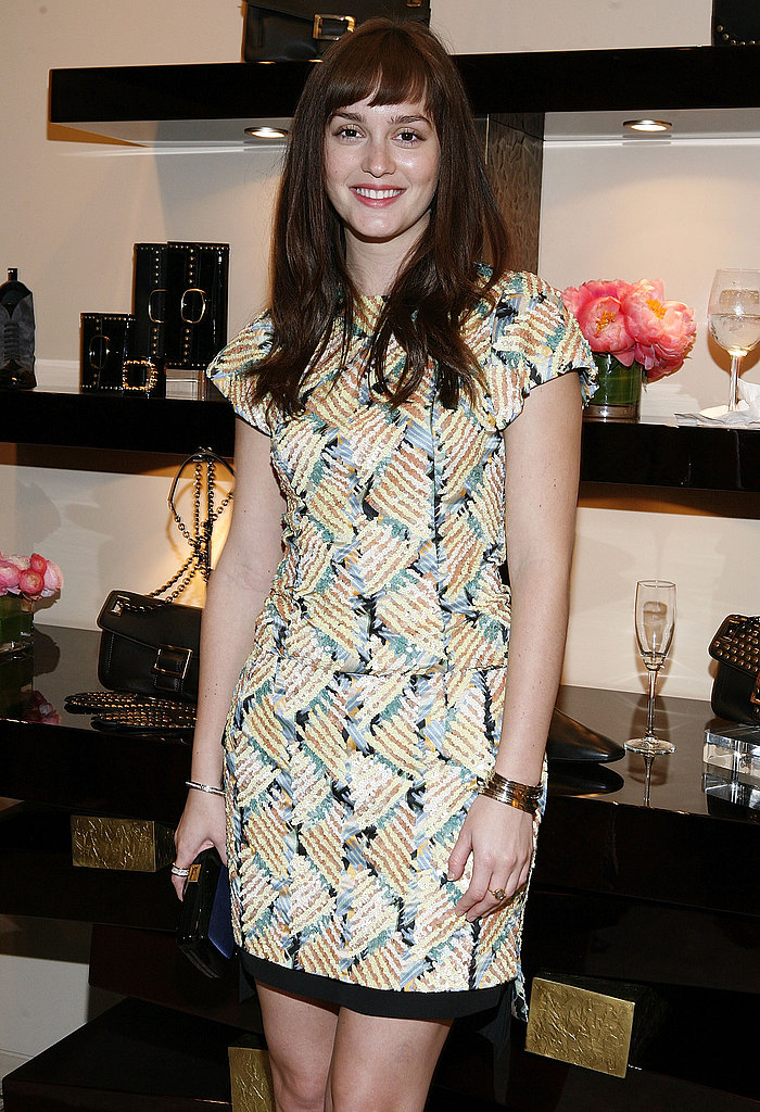 Leighton Meester was all smiles at a Roger Vivier party.