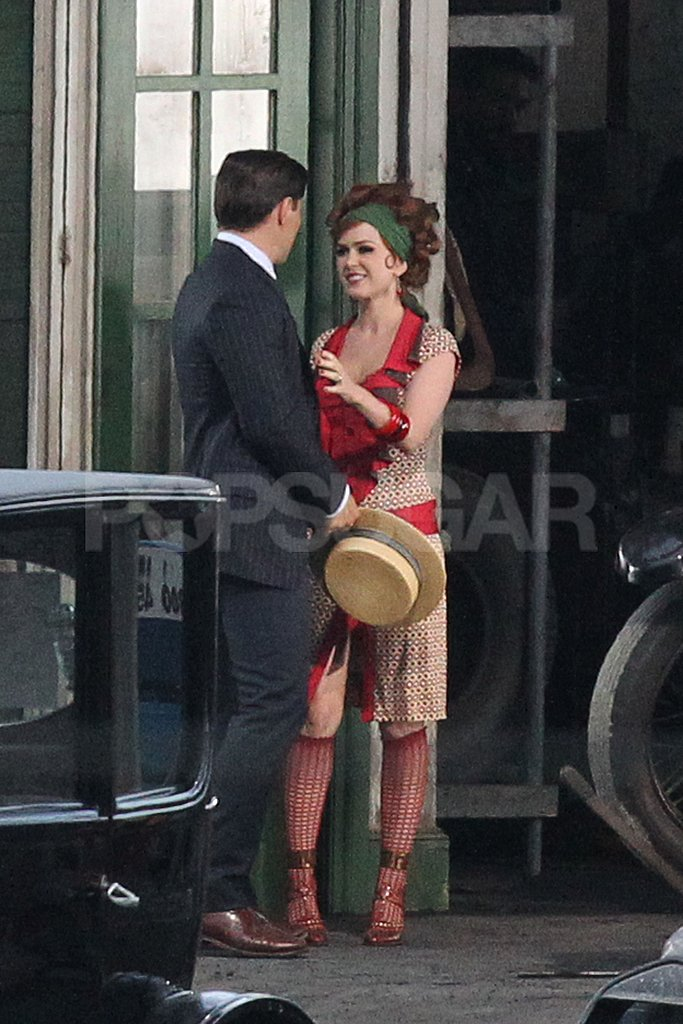 Isla Fisher was a femme fatale on set.