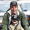 Liev Schreiber and Samuel Biking in NYC Pictures