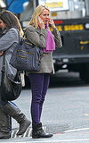 Naomi Watts in purple pants.
