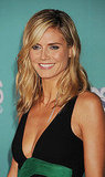 Heidi Klum wore a sexy, low cut dress to the event.