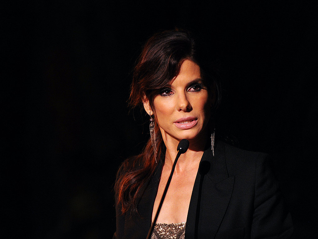 Sandra Bullock spoke at the 2011 amfAR Inspiration Gala in LA.