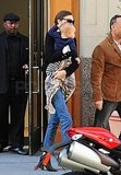 Miranda and Flynn left their NYC hotel today.
