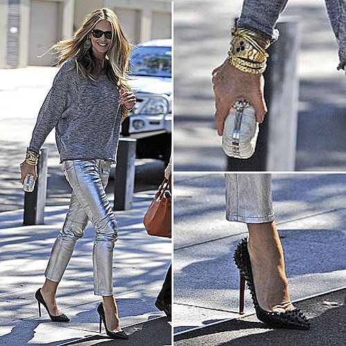 Celeb Style: Elle Macpherson&#039;s Hot Metallic Pants