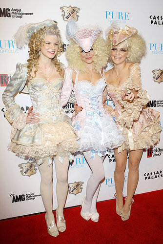 Angel, Rachel, and AnnaLynne McCord stuck together at Pure Nightclub's party in Las Vegas in 2011.