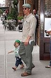Matthew McConaughey and little Levi looked cute and casual leaving their NYC hotel in June 2010.