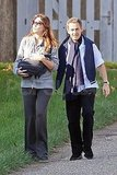 Carla Bruni and Nicolas Sarkozy out in Paris with Giulia Sarkozy.