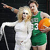 Jessica Simpson in Mummy Costume, Eric Johnson as Larry Bird