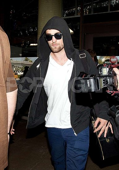 Robert Pattinson Lands in LA Following a Weekend in London With Kristen Stewart