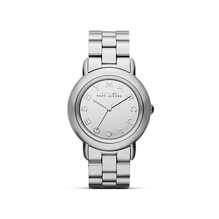 We love the masculine-feminine mashup of this classic watch. Marc by Marc Jacobs Marci Watch (approx $140)