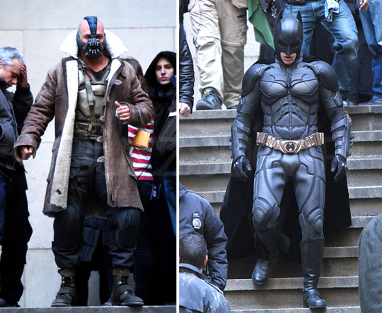See Tom Hardy and Christian Bale Square Off in The Dark Knight Rises