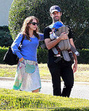 Natalie Portman and Benjamin Millepied took their son Aleph Millepied out in LA.