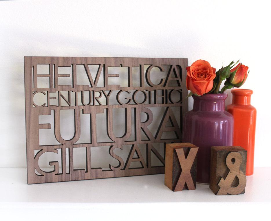 Sans Serif Typography Wall Art